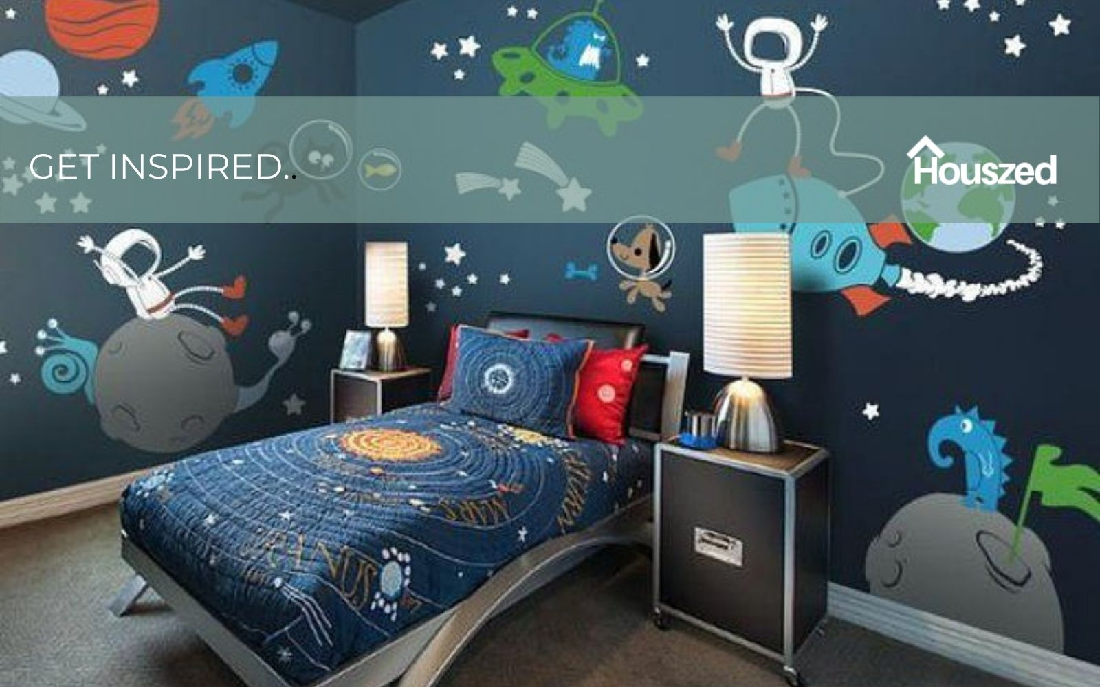 19 Space Bedroom Ideas Ready For Lift Off In 2021 Kids Houszed